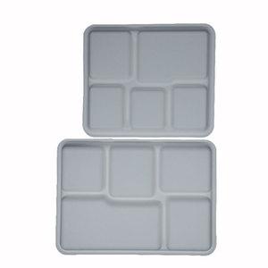 Biobegradable respetuoso del medio ambiente 5-compartimiento placa de cocina bandejas Compostable