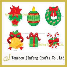 fiesta de vacaciones recortes de papel brillo ornamento de la navidad
