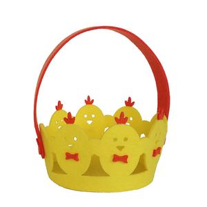 공장 걸 이식 장식 gift candy 버킷을 felt 부활절 Basket Small