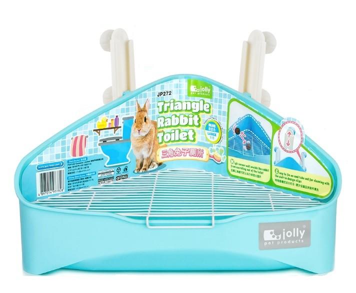 Pequeño de productos para mascotas de plástico grande del triángulo baño conejo cerdo de Guinea Chinchilla
