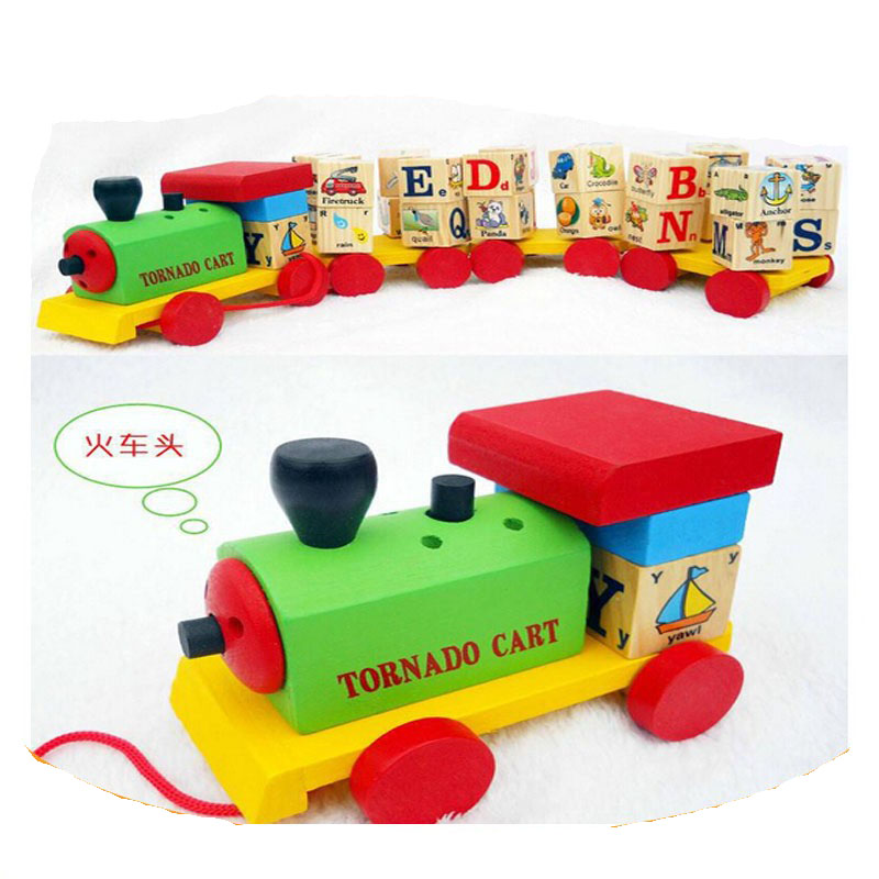 De inteligencia juguete alfabeto <span class=keywords><strong>colorido</strong></span> de los trenes para niños