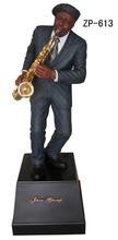 pequeño figura estilo de jazz figura de resina músico figura de saxofón