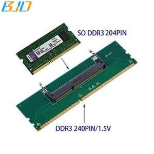 新到着ラップトップ DDR3 RAM デスクトップアダプタカード、メモリテスター 204Pin SODIMM に 240Pin DIMM コンバータ