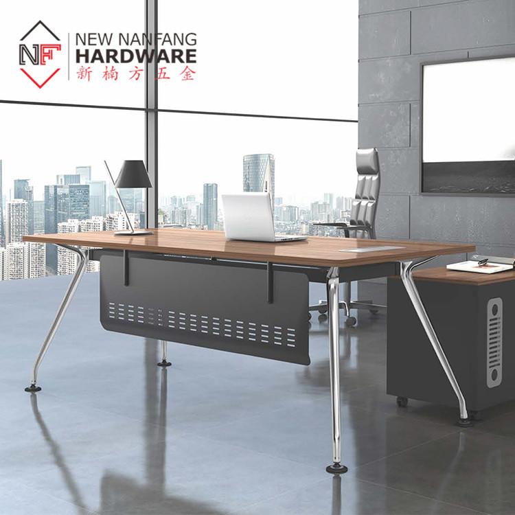 مصنع الجملة النمط الصناعي مكتب الرئيس التنفيذي الجدول إطار/طاولة مكتبية إطار ل بوس