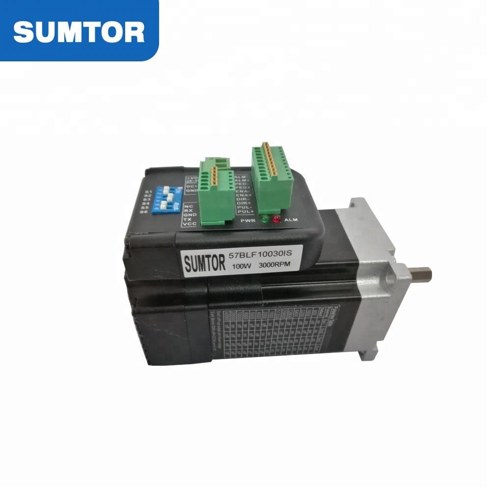 100w không chổi than vòng tua cao dc điện nema 23 tích hợp servo mini micro gắn động cơ với trình điều khiển cho máy may