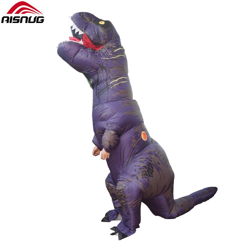 Pourim Monde Jurassique Halloween et Cosplay <span class=keywords><strong>trex</strong></span> <span class=keywords><strong>costume</strong></span> gonflable dinosaure