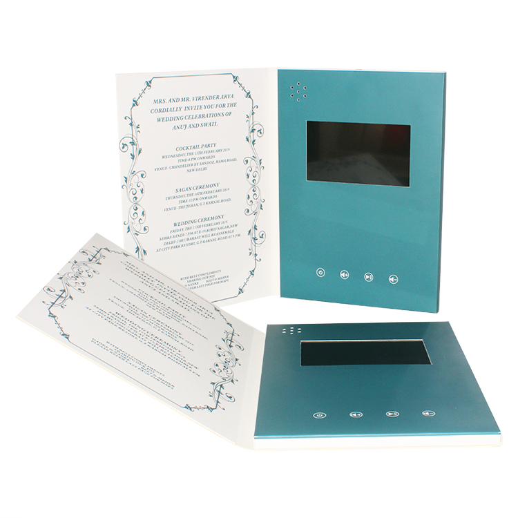 工場出荷時の価格 4.3 インチ液晶デジタルビデオプレーヤー画面ビデオ冊子
