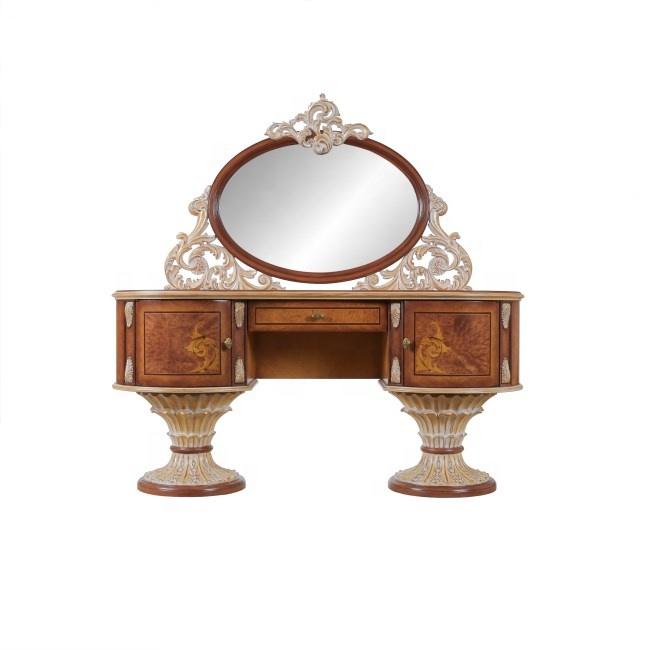 Деревянный туалетный столик конструкции макияж комод с зеркалом античное дерево комоды BQ129-30, BQ129-32