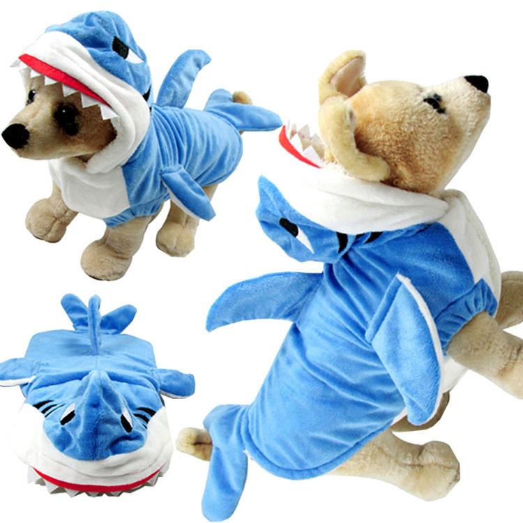 Pet 옷 funny 면 개 코트 shark 마치 남자들 한복 대 한 기계를 동물 음식을 옷 의류를 선택해야하나요