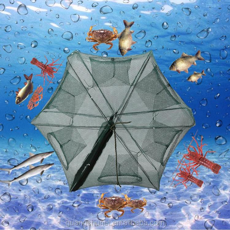 YOUME Katlanmış Taşınabilir Altıgen 6 Delik Otomatik Balıkçılık Karides Tuzak Balıkçılık Net Balık Karides