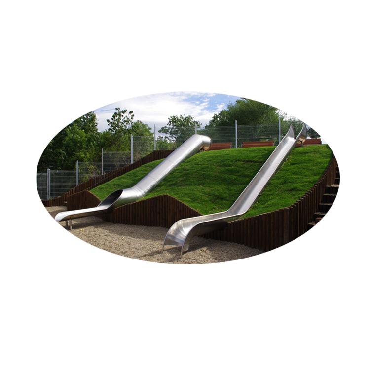 Produzione professionale Parco <span class=keywords><strong>Giochi</strong></span> All'aperto In Acciaio Inox Tubo A Spirale Scivoli Per Bambini E Adulti