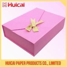 Alta calidad hecha a mano de lujo de la de cartón de papel de cajas de regalo personalizadas