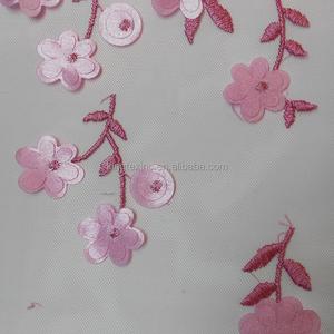 Made in China superiore qualità pianura stile haute couture tulle ricamato tessuto e tessuto di maglia