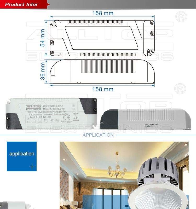 high power 50w 1500ma constant current led driver for led panel light 60w 70w 80w