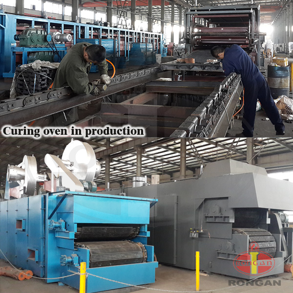 Rock wool heat curing oven