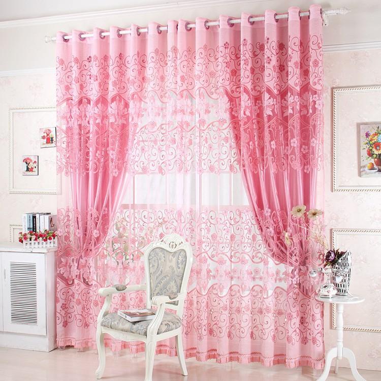 2018 Wholesale Window Treatment Luxury Curtains+Tulle Beads Purple ...