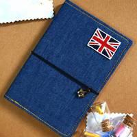 пустой Дневники журналы ноутбук Примечание книги Англии флаг 0010304