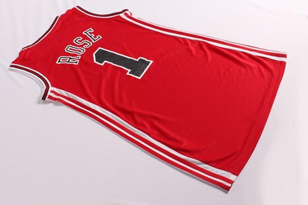 Дешевые #1 Деррик Роуз женщин сексуальное платье красный баскетбол Джерси новые 1 роза Леди юбка платье