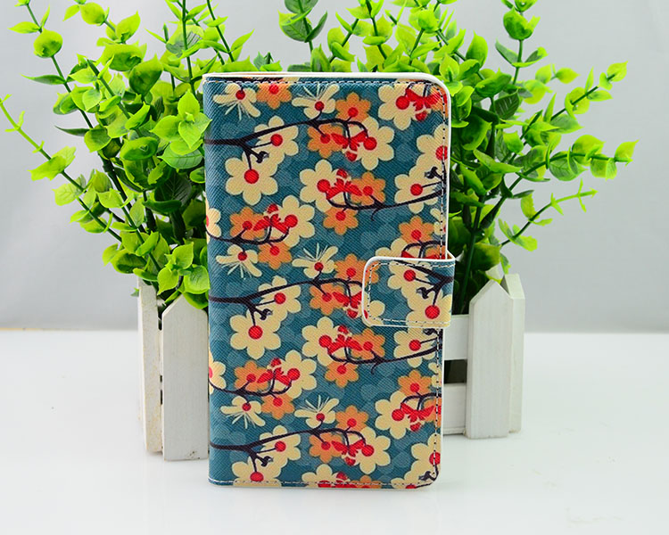 funny case for samsung galaxy note3, PU leather covers with flower pattern