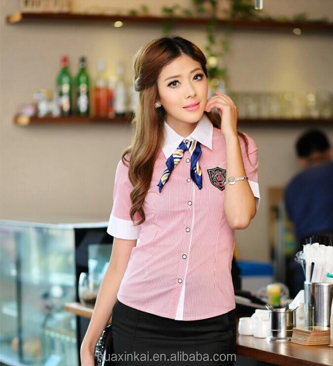 office uniform blouses design collar blouses
