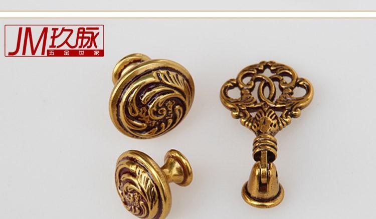 Ручки дверные европейских медные груди / сельских Европейский кабинет ящик ручки/антикварные золотые дверной ручки