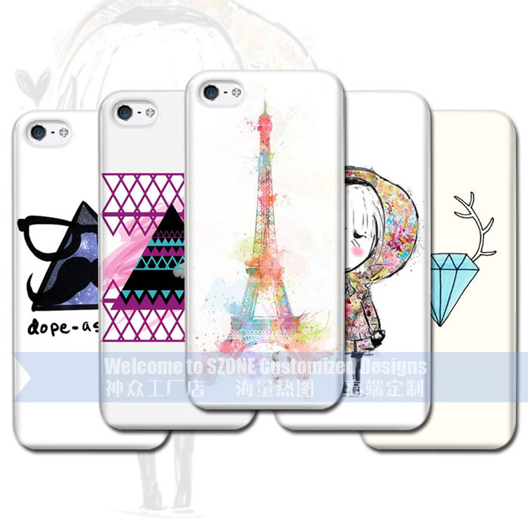 For apple iPhone 5 5s cases color printing custom design case
