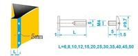 5 * 14 мм x100pcs 5x14mm посеребренные привязки пост винт