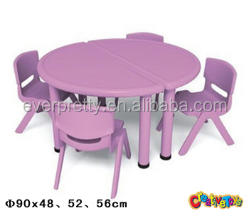 ronde en plastique tables et chaises d 39 enfants enfants chaise de table en plastique meubles. Black Bedroom Furniture Sets. Home Design Ideas