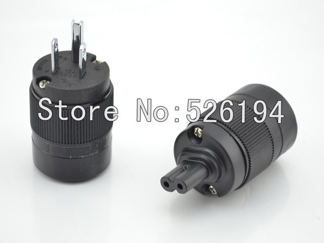 Free shipping Figure 8 Rhodium Plated US power plugs for audio power cable