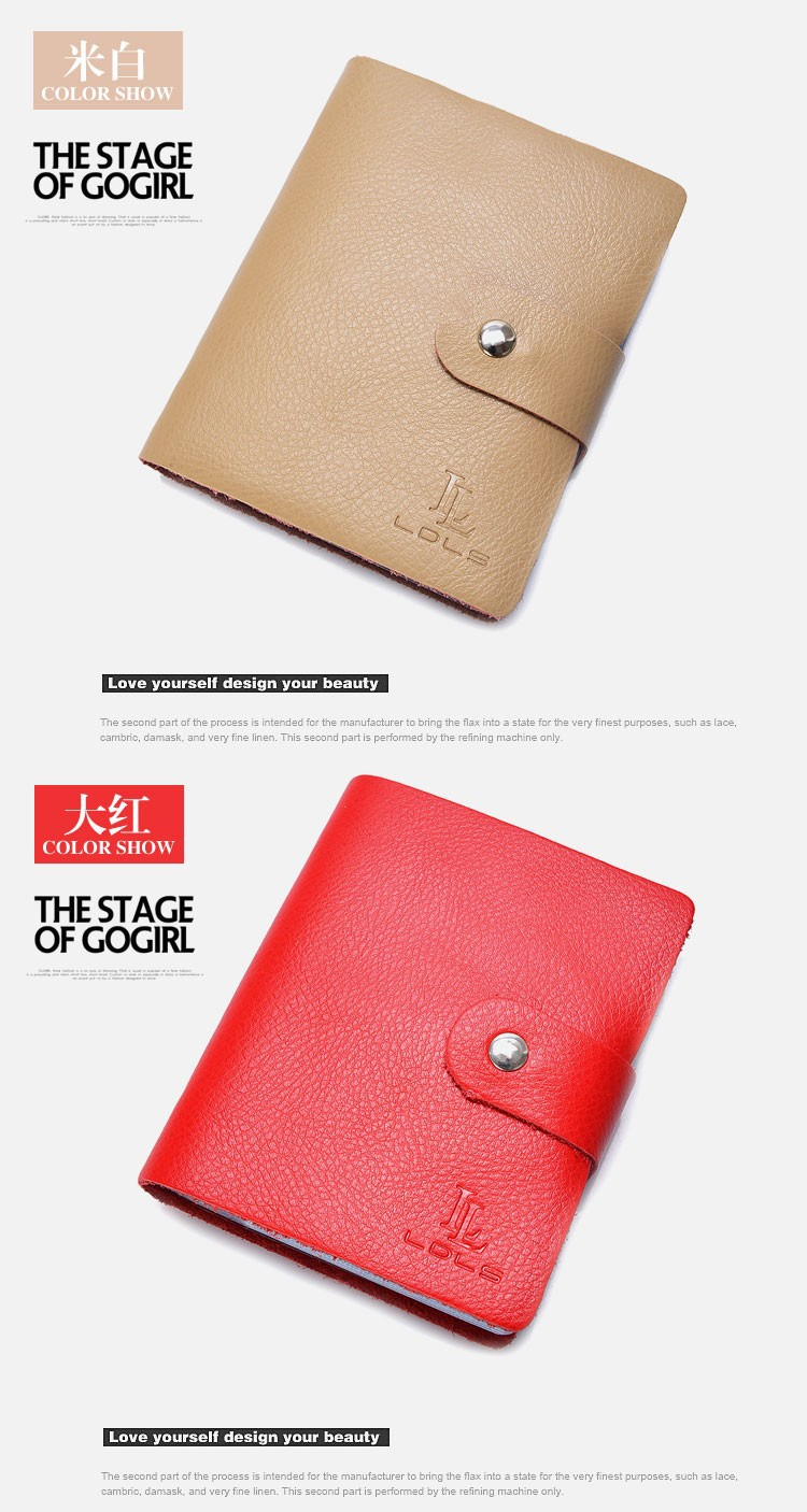 Business Size Checkbook Covers : Wholesale genuine leather cardholder business credit id