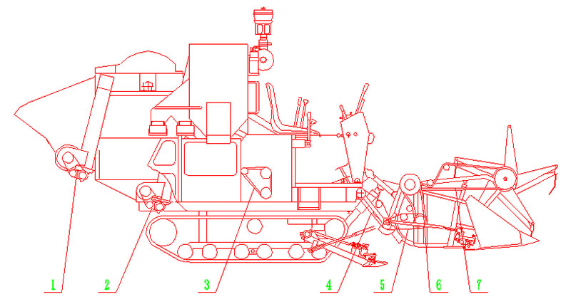 Combine Harvester Schematic : Combine harvester lz in super quality agricultural