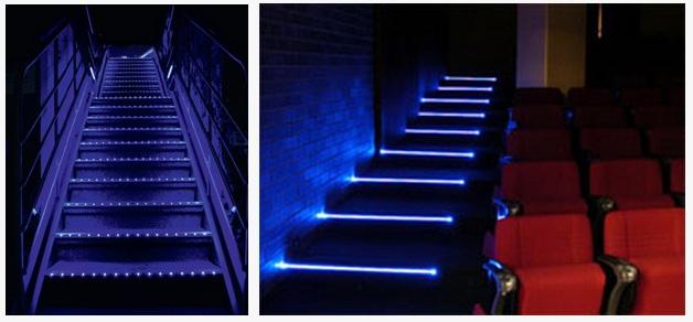 led strip light aluminum profile for cinema bus step or stairs nosing buy cinema stair step. Black Bedroom Furniture Sets. Home Design Ideas