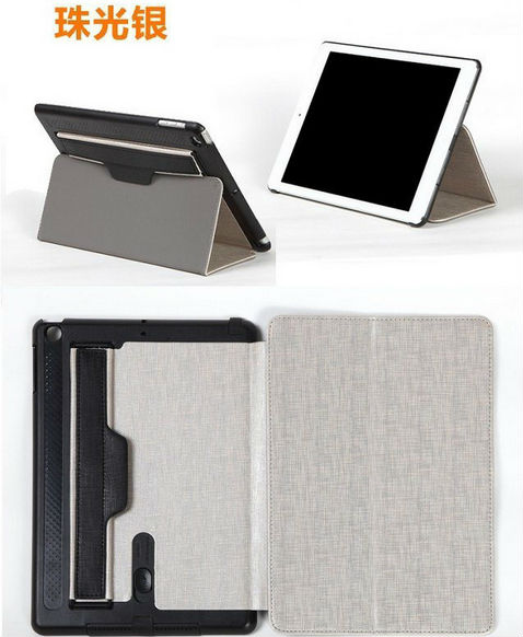 Magnetic auto wake sleep function leather case for ipad mini,wholesale ipad mini leather case
