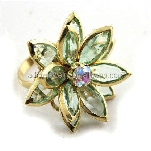 Joyería de moda rosa en forma de diamante de la flor walmart anillos de compromiso