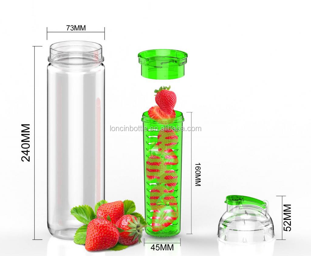 Wholesale New 700ml Fruit Infuser Water Bottle Infusion
