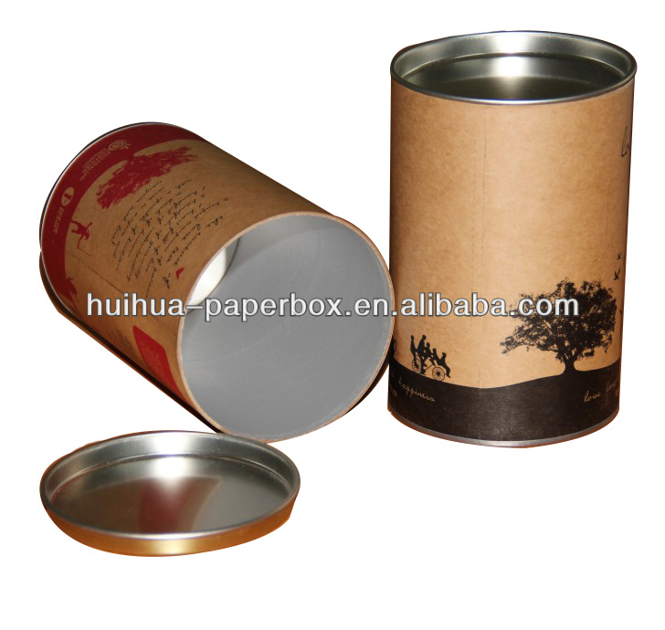 Metal lid mailing tubes buy mailing tubes metal lid for Kraft paper craft tubes