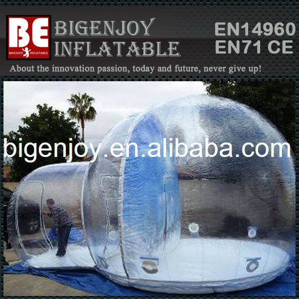House Snow Globe Inflatable Giant Snow Globe