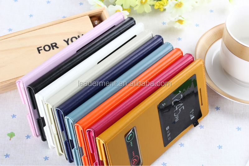 Wholesale price High Quality 100% Brand New Leather Case For Huawei Ascend P7