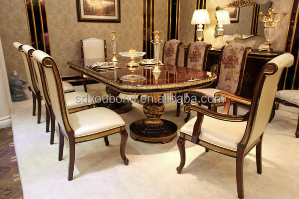2015 solid wood antique dining room furniture 0063 italian for Royal dining table