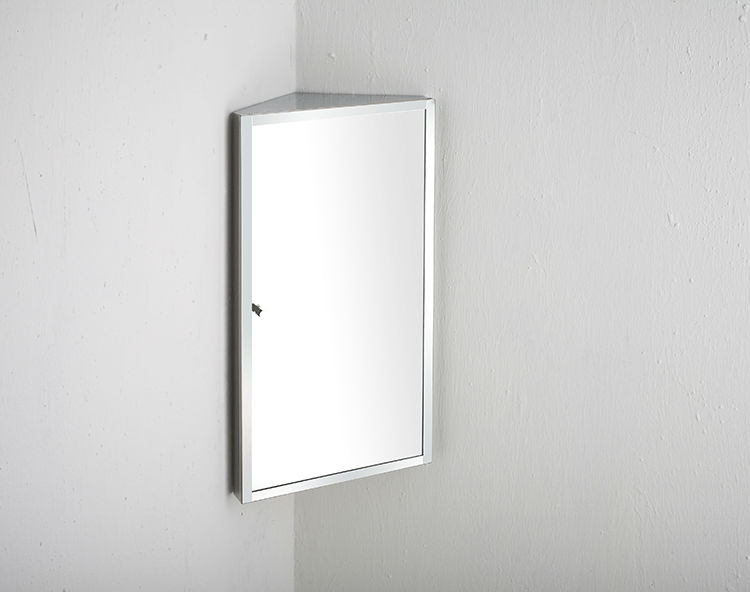 Stainless Steel Bathroom Corner Wall Mirror Cabinet Mc101: Mur Suspendus En Acier Inoxydable Petit Coin Miroir