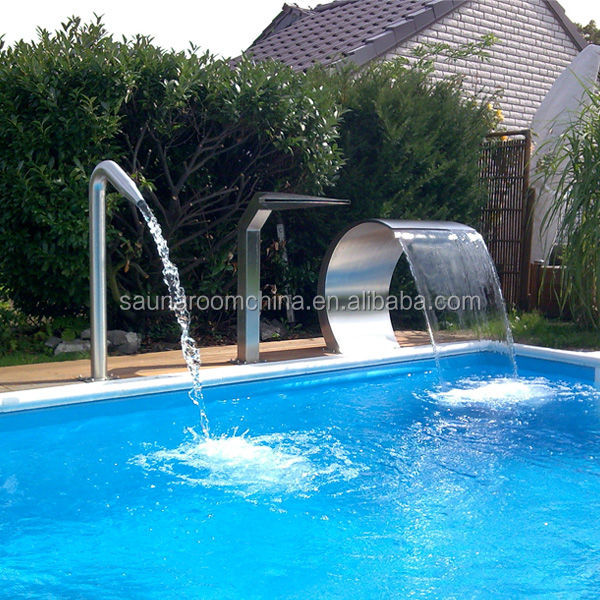 Outdoor and indoor swimming pool water shower waterfalls for Pool design company radom polen