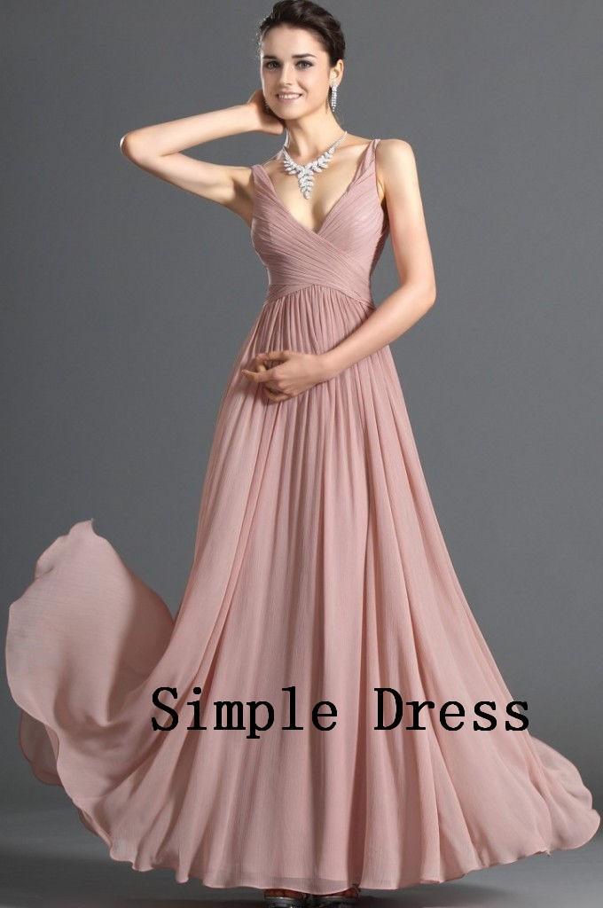 v-neck chiffon dress(2)