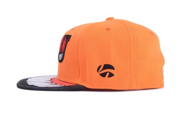 2014a-181, новый стиль моды зубы вышивка бейсбол шляпы, хип-хоп мода cap, плоский birm шляпа
