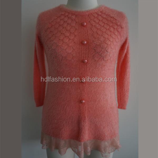 Latest Design Knitted Woman Diamond Pattern Sweater - Buy Diamond ...
