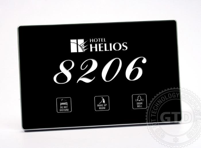 H tel porte plaques avec led de l 39 affichage de num ro de for Numero de chambre hotel