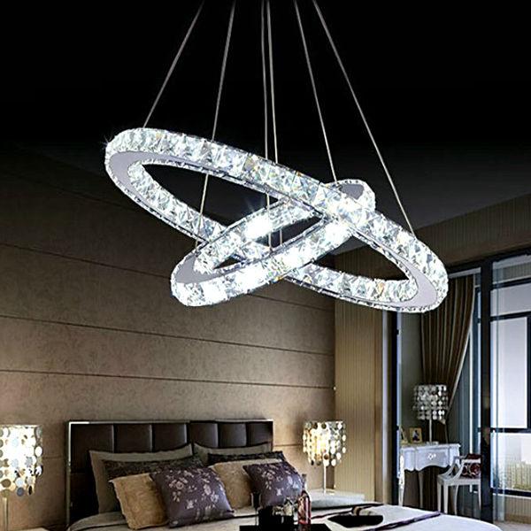 Double couche forme ovale pendentif lumière de haute qualité Led ampoule modèle : DY 1404