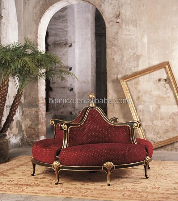Vintage retro round chair sofa golden round throne sofa for Sofa royal classic
