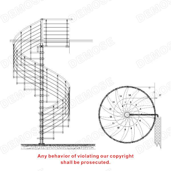 Seguran a da escada de a o inoxid vel escada espiral de - Trap ontwerpen ...