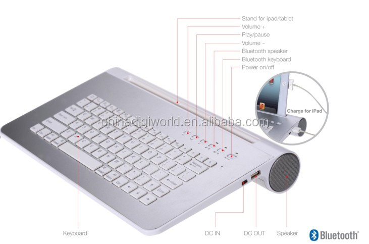 bluetooth keyboard for android Wireless bluetooth keyboard with bluetooth speaker wireless speaker built in microphone stand