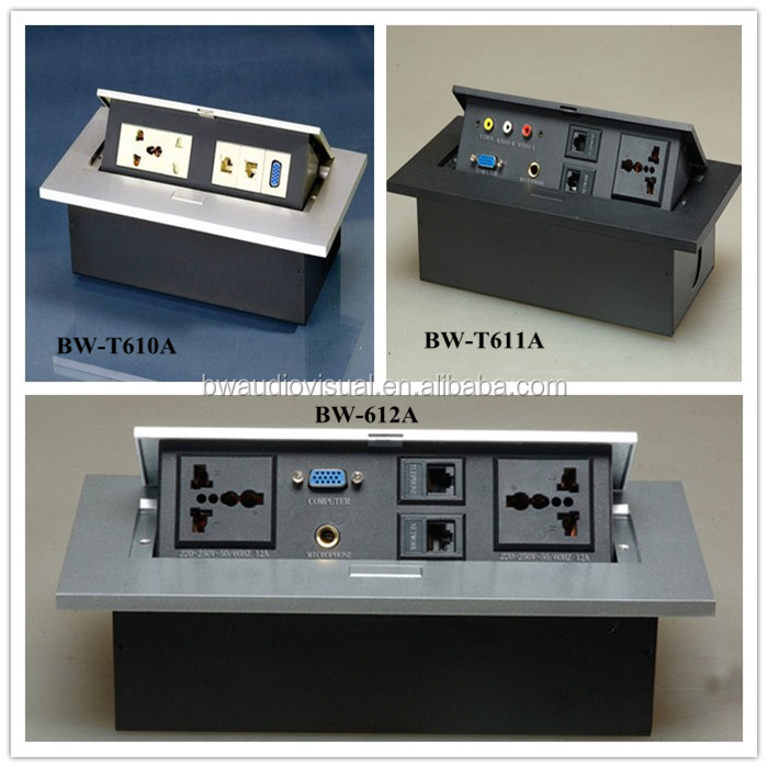 Bw Audiovisual Tabletop Power Socketselectric Us Socket Buy Us - Conference table electrical box